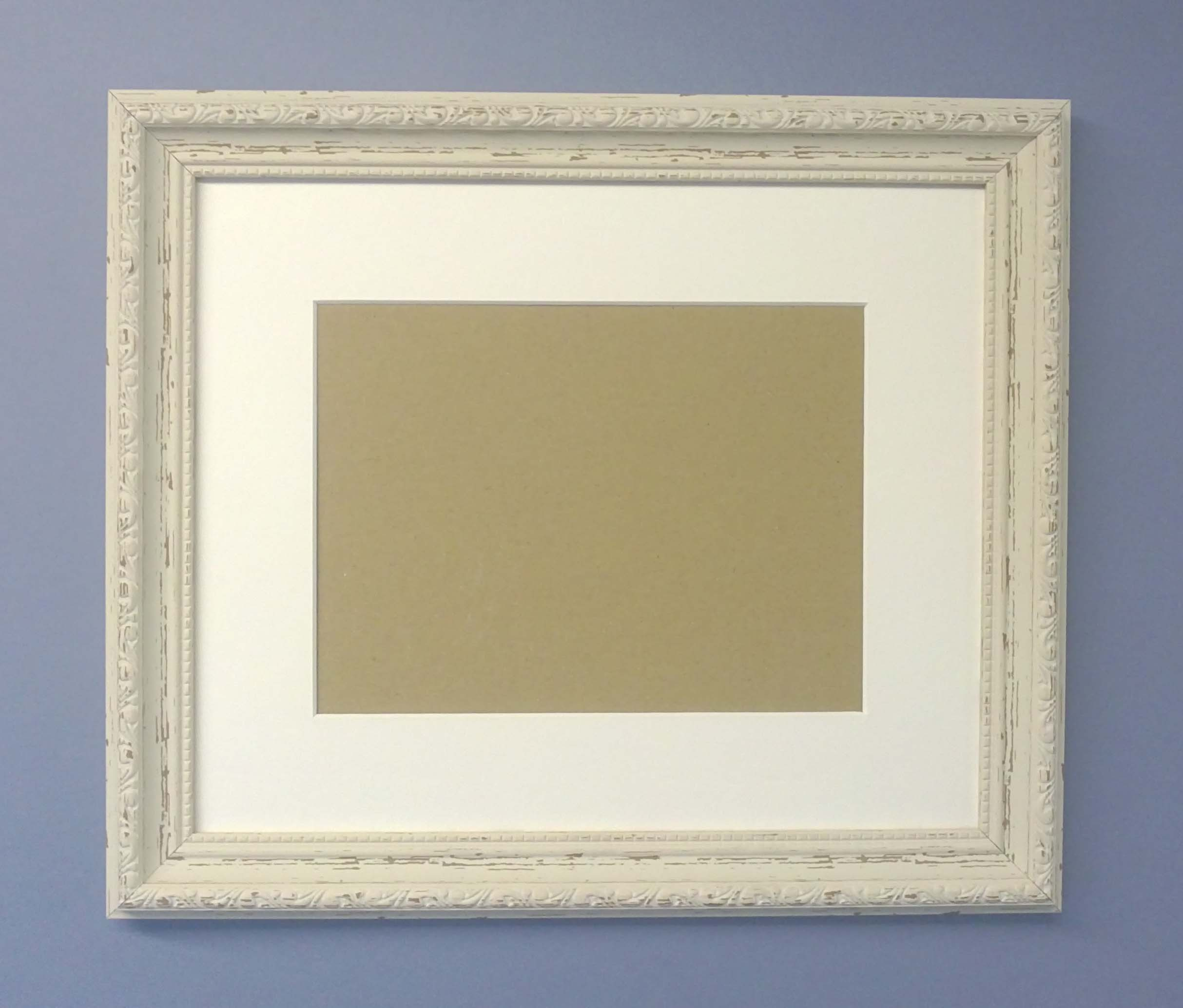 CHIC POLYMER FRAME COMPLETE WITH A SOFT WHITE COLOURED ACID FREE WHITE ...